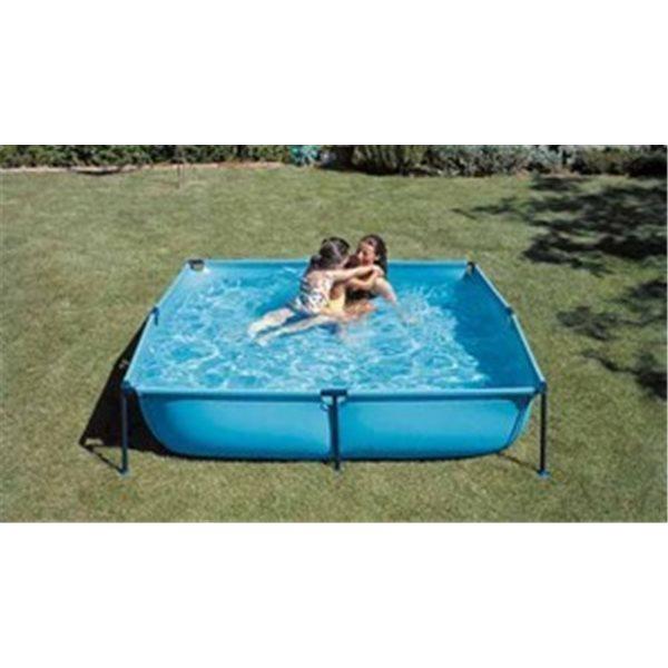 Piscina de lona con patas de PVC de 4 lados - 500 litros  125x125x35. MODELO JET POOL